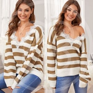 RYLIE Stripes Knit Sweater